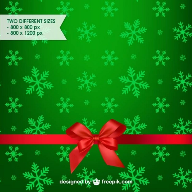 green christmas background free vector