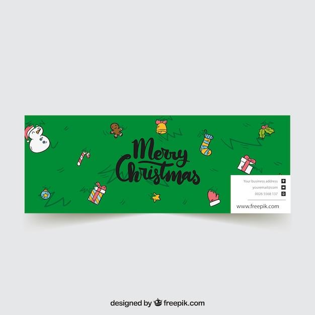 Green christmas facebook cover