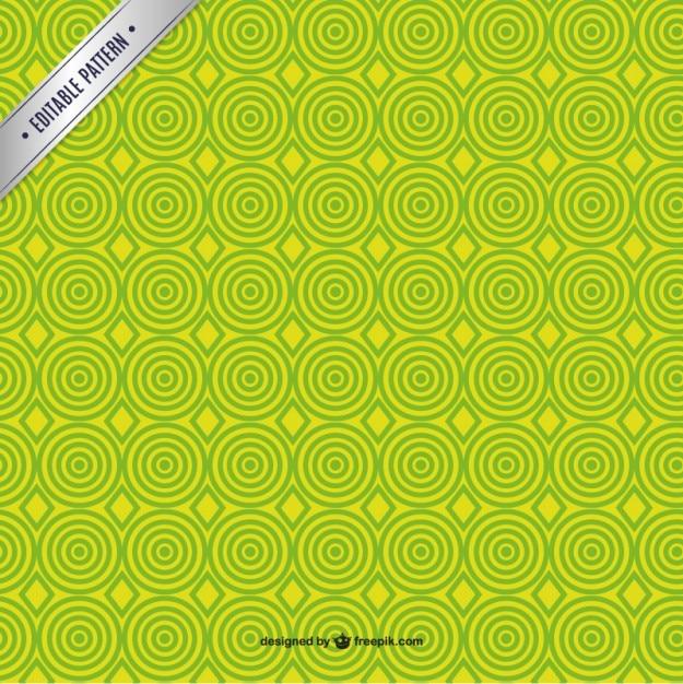 Green circles pattern Free Vector