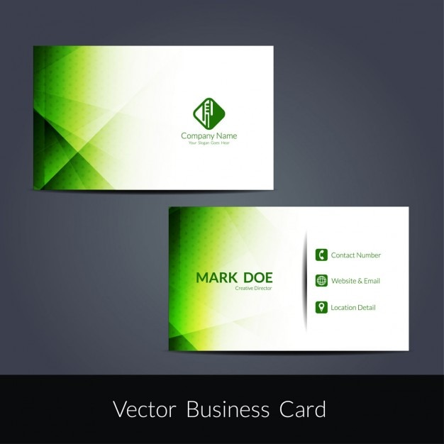 Green color modern business card design vector free download green color modern business card design free vector reheart Gallery