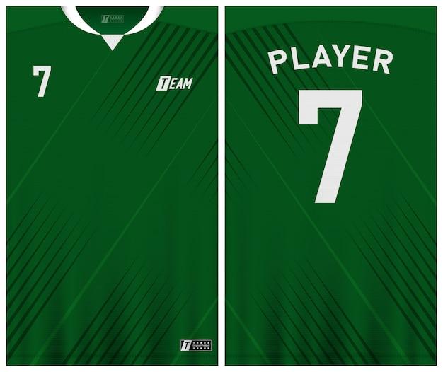 Premium Vector | Green color soccer jersey template