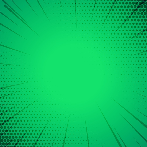 Green Comic Book Style Template Background Free Vector