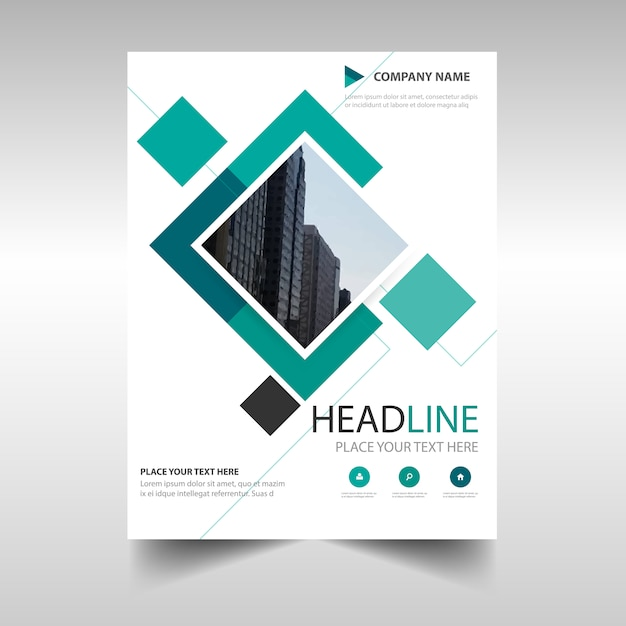 Green commercial annual report template Vector | Free Download