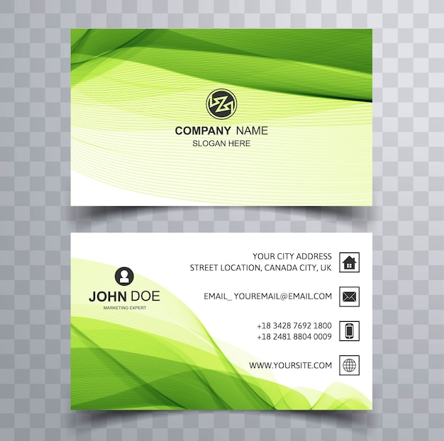 Green corporate business card vector free download green corporate business card free vector colourmoves