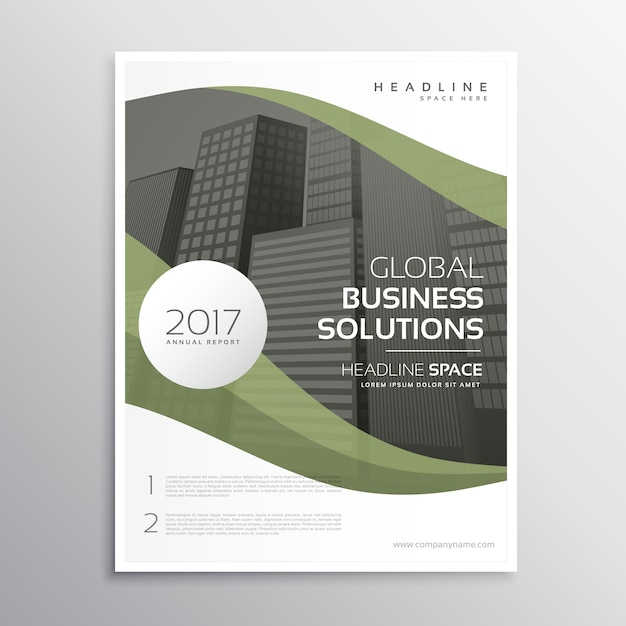 Green corporate business flyer design