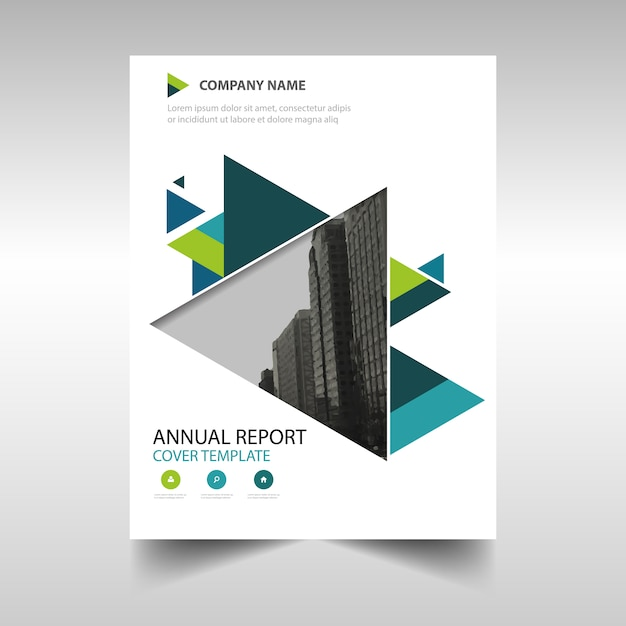 Free Creative Book Cover Template : Green creative annual report book cover template vector
