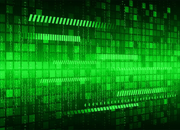 Green cyber circuit future technology background Premium Vector