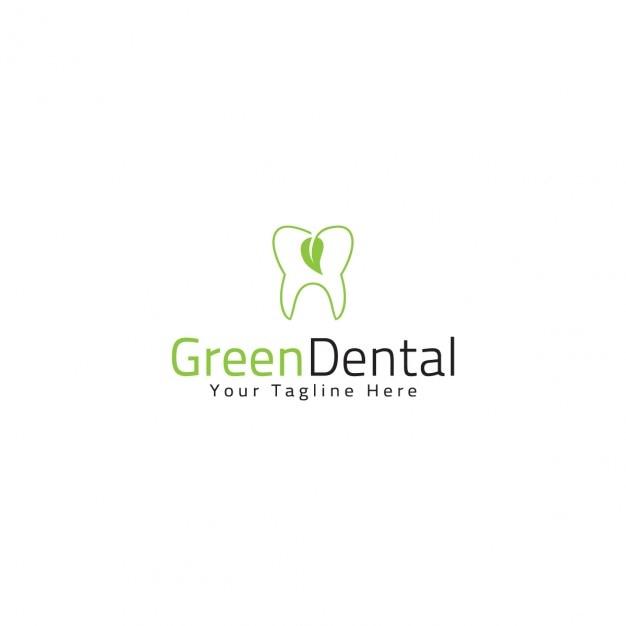 Green dental logo template