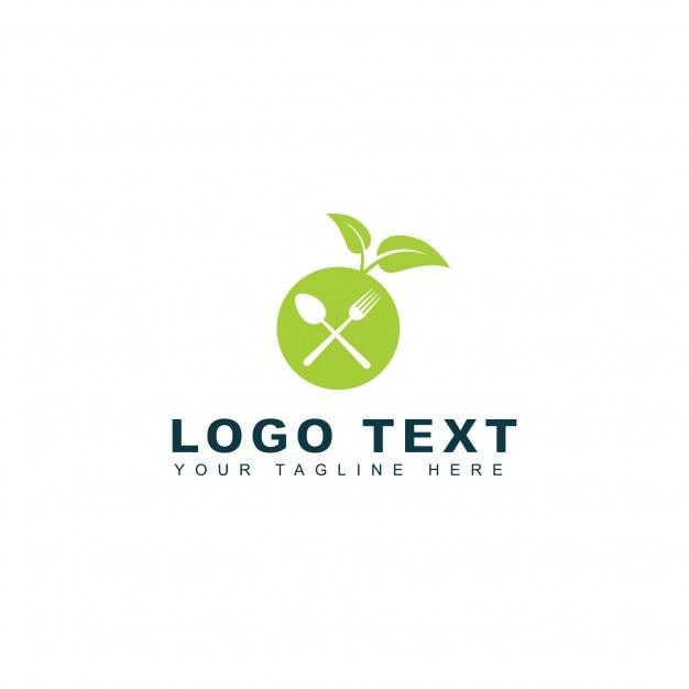 Green diet logo Free Vector