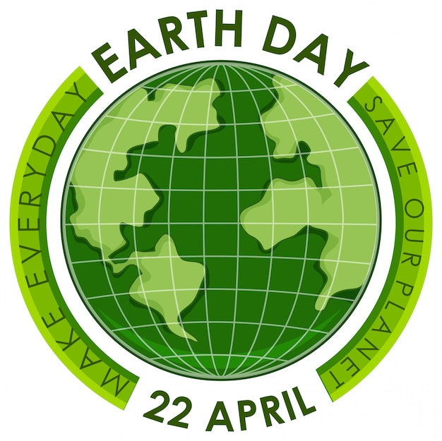 Green earth day poster Premium Vector