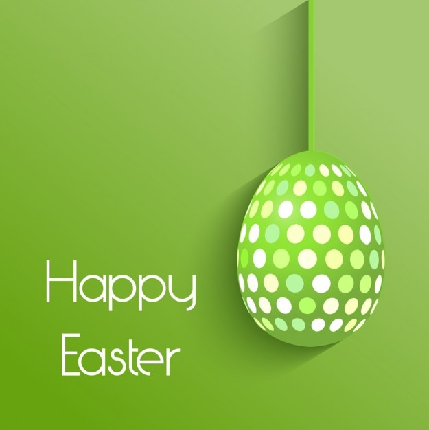 Green Easter Egg Background