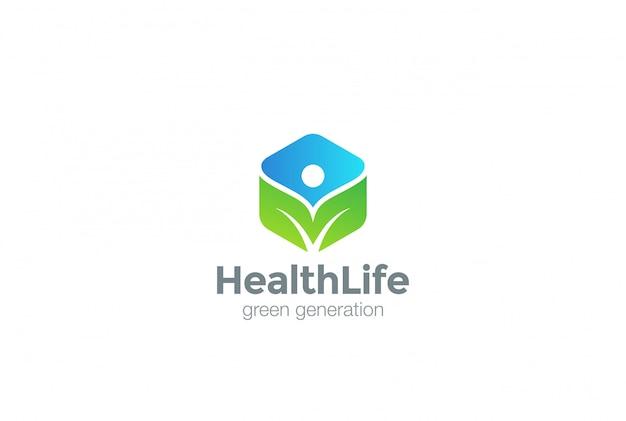 緑のエコのロゴアイコン。 無料ベクター