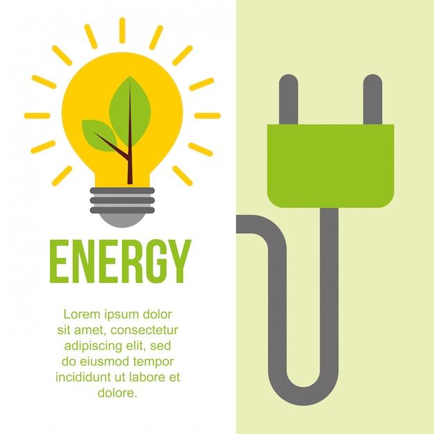 Green energy alternative Premium Vector