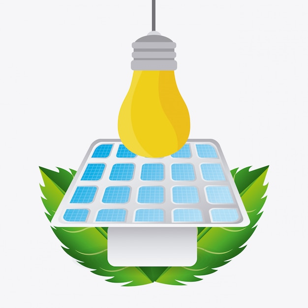 Green energy design. Premium Vector
