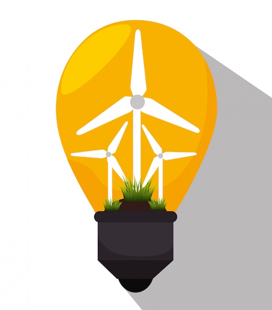 Green energy and ecology Free Vector