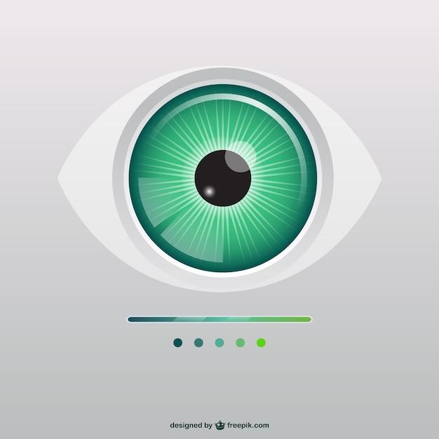 Green eye illustration Free Vector
