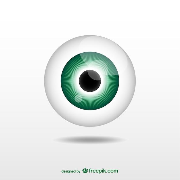 Green eyeball Premium Vector