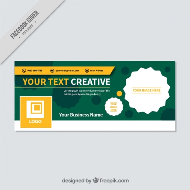 Green facebook cover for business