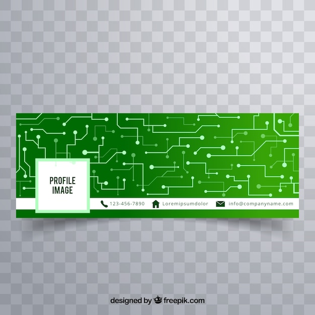 Green facebook to business technology facebook cover