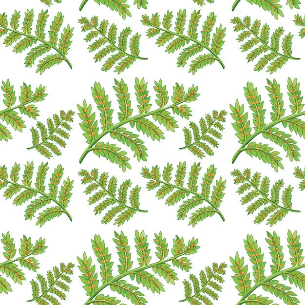 Green fern seamless pattern Free Vector