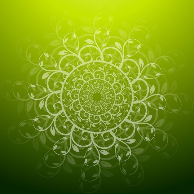 Green Floral Background Vector Free Download