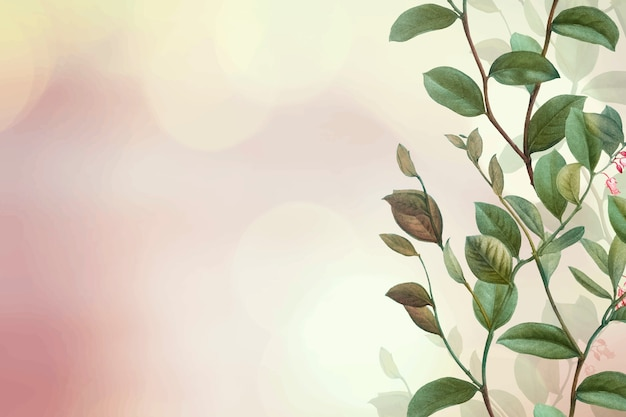 Green floral background Free Vector