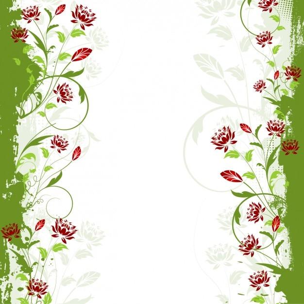 Green Corner Border Frame Floral Background, Border Vector ... |Green Flower Border
