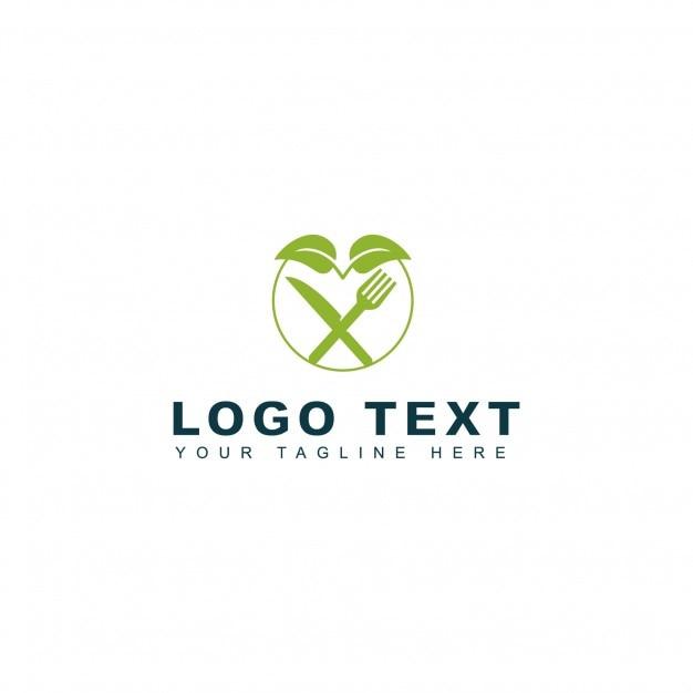 Green food logo Free Vector