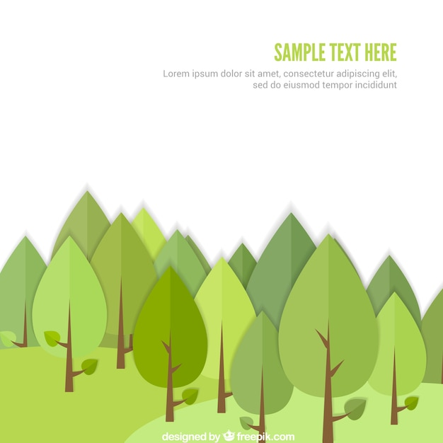 green forest template vector free download