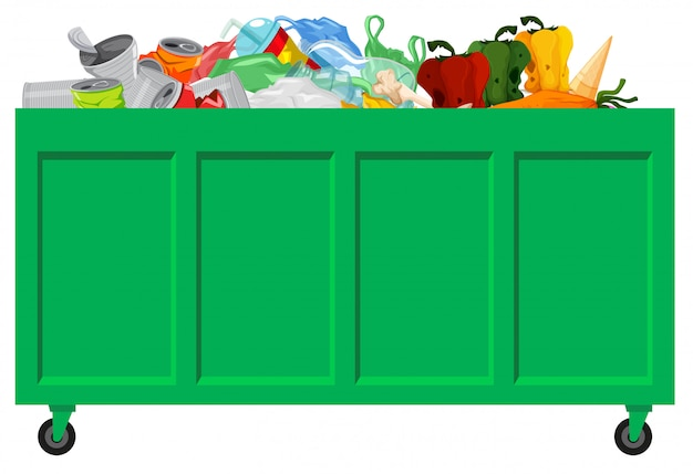 A green garbage collecting Free Vector