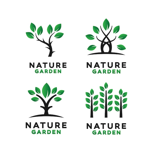 Green garden logo design inspiration Vector | Premium Download