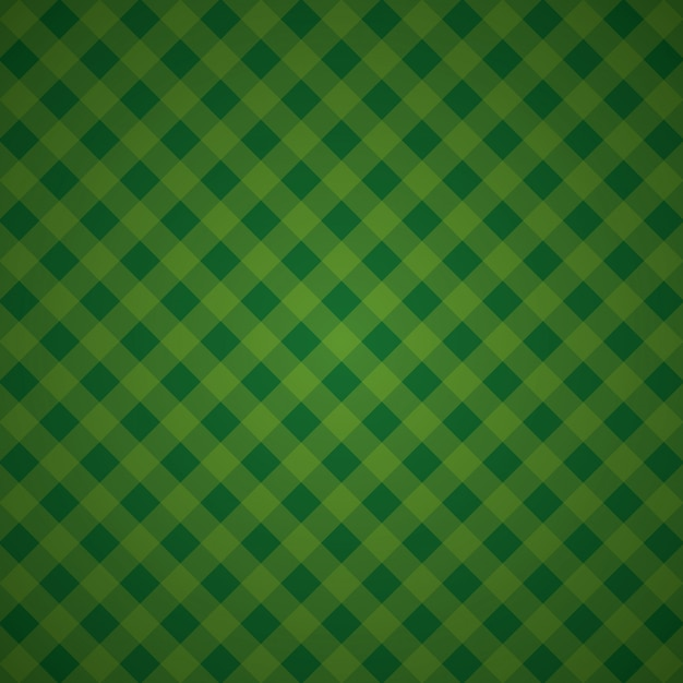 Green geometric background checkered textile mosaic Free Vector