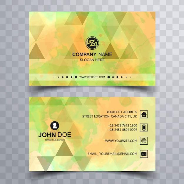 Green geometric business card