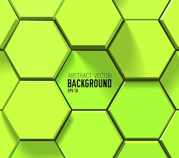 Зеленый геометрический шестиугольный узор Бесплатные векторы