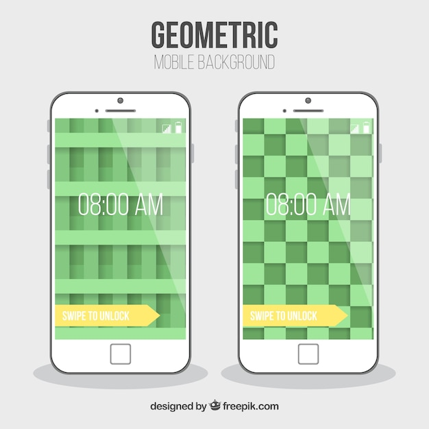 Green geometric wallpapers for mobiles