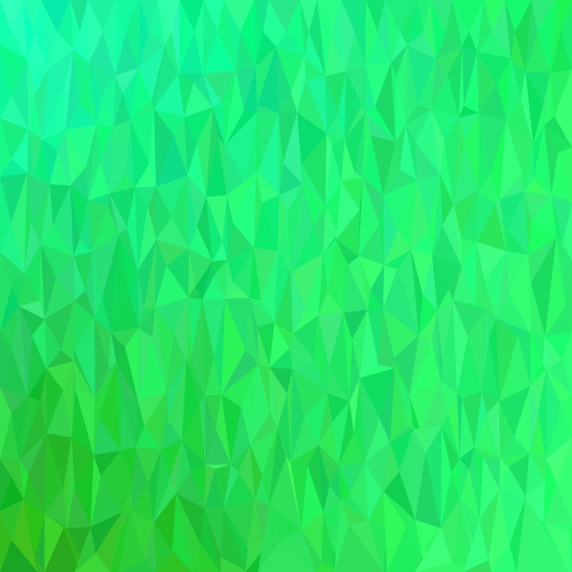 Green geometrical chaotic triangle background - mosaic vector illustration