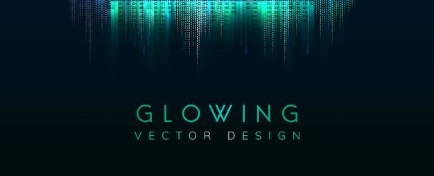 Green glowing neon background vector Free Vector