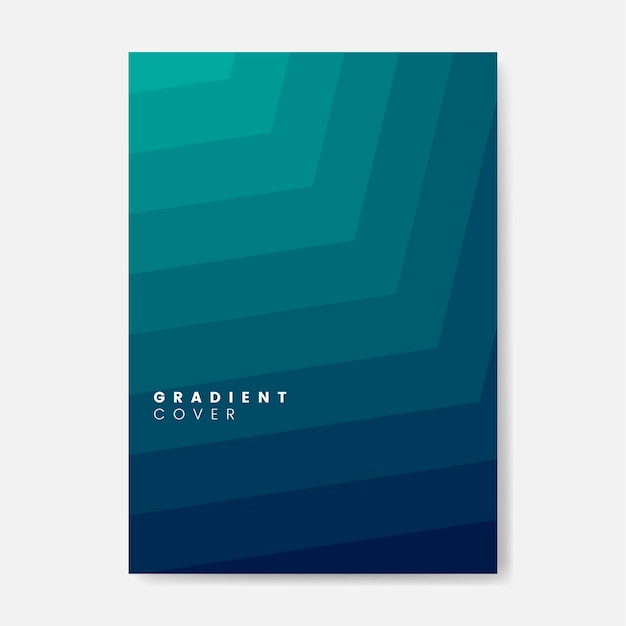 Green gradient cover graphic design Free Vector