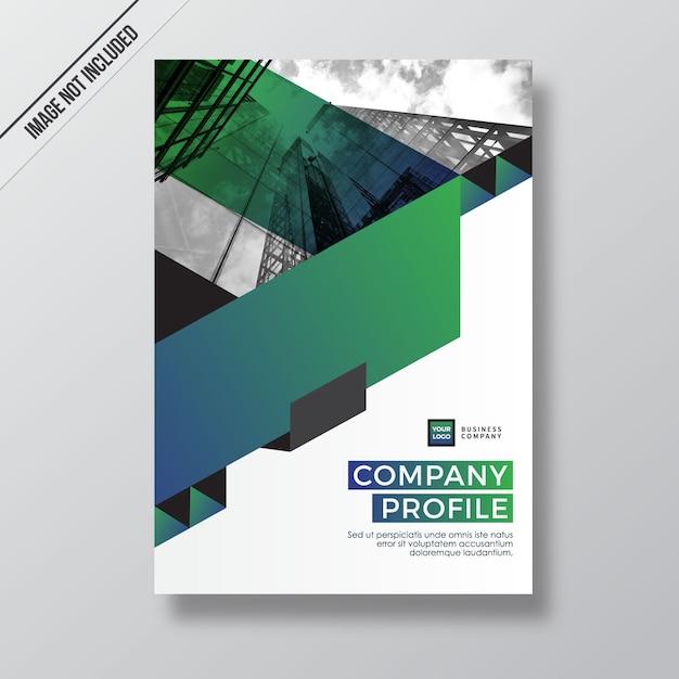 Green Gradient Modern Style Design Company Profile