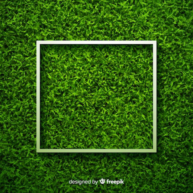 Green grass background realisitic design Free Vector