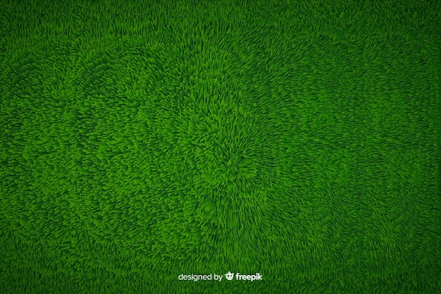 Green grass background realistic style Free Vector