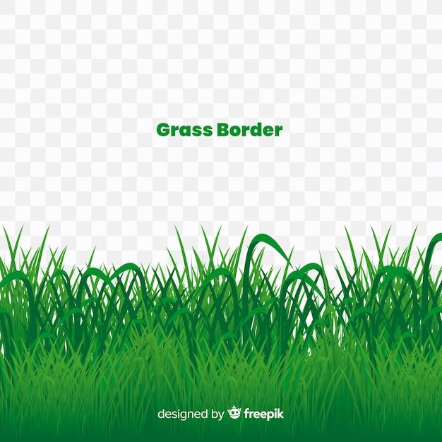 Stile realistico di banner di erba verde Vettore gratuito