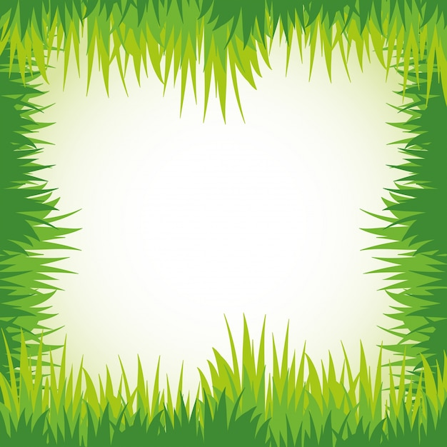 Green Grass For Frame Template Vector Free Download