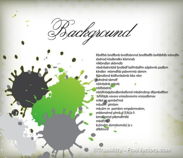 Verde e grigio spruzzi di sfondo Vettore gratuito