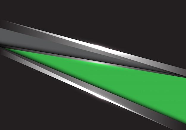 Green grey silver triangle black background. Premium Vector