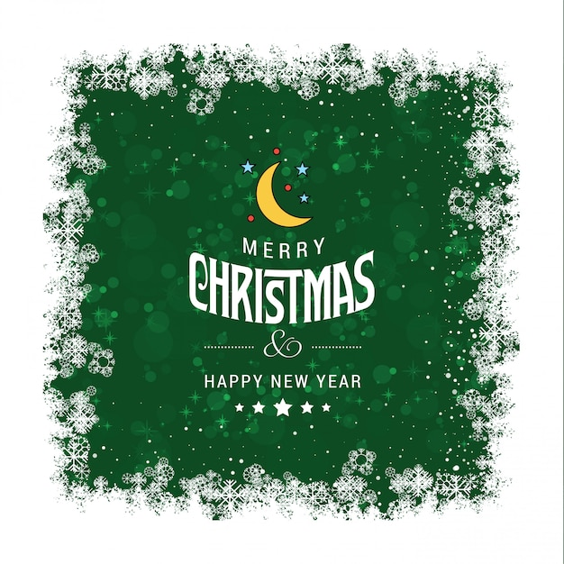 Green Grunge Christmas greetings card Vector | Free Download