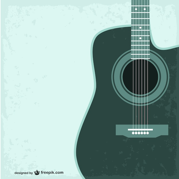 green guitar background vector free download