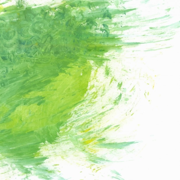 Green hand painted background Free Vector