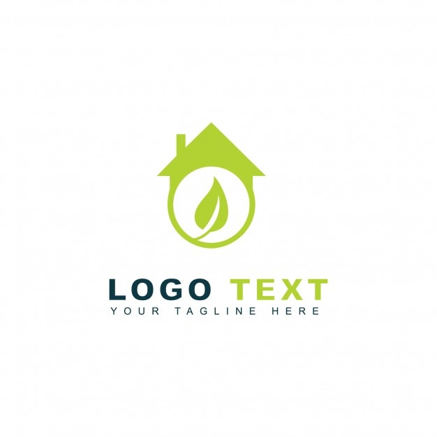 Green homes logo Free Vector