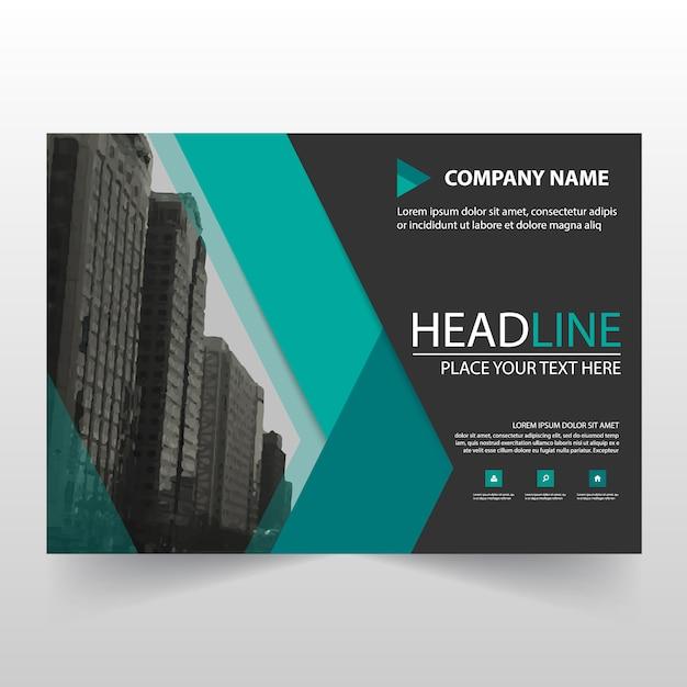Green horizontal business flyer template Vector | Free ...